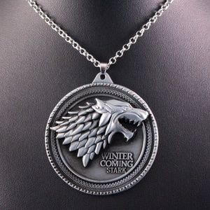 Alloy 3D Game of Thrones Stark Dire Wolf Pendant